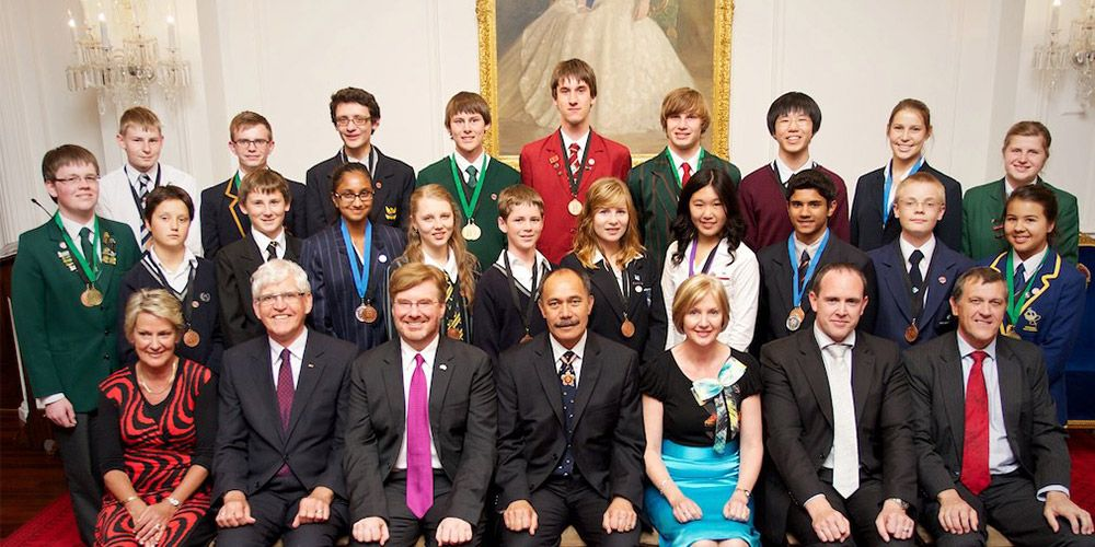 The 2012 Realise the Dream participants at Government House with the Governor General